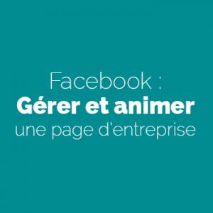 Facebook : Gérer et animer une page d'entreprise